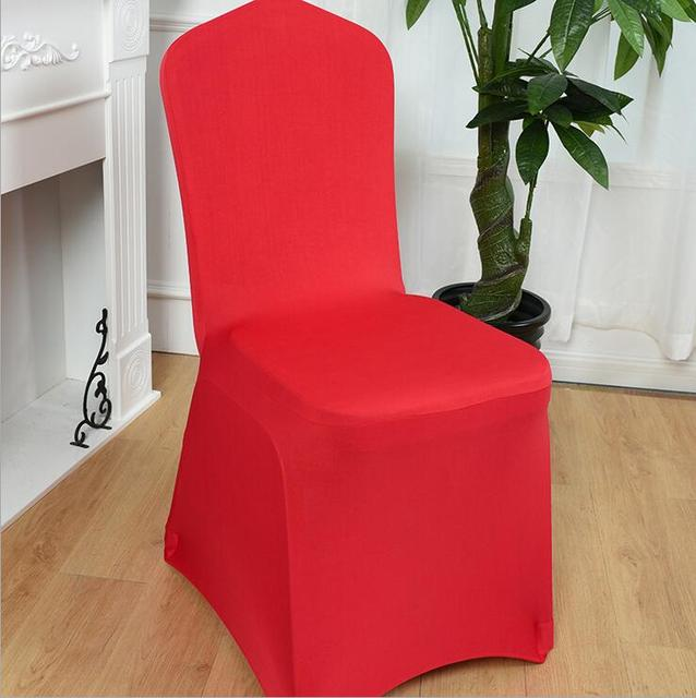 large banquet chair covers rubber band solid color hotel celebration marriage elastic cover conference