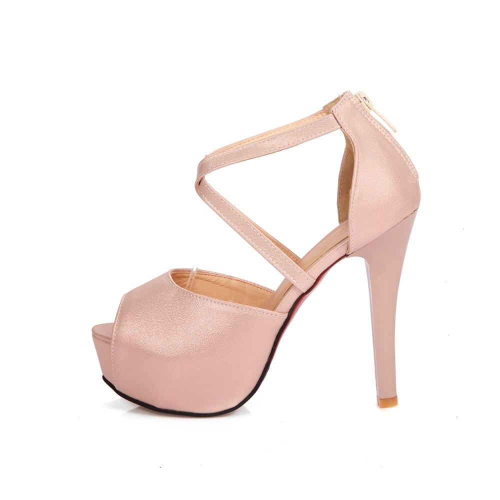 2017 New women sandals thin high heels shoes woman peep toe wedding shoes summer dess shoes ladies sandals