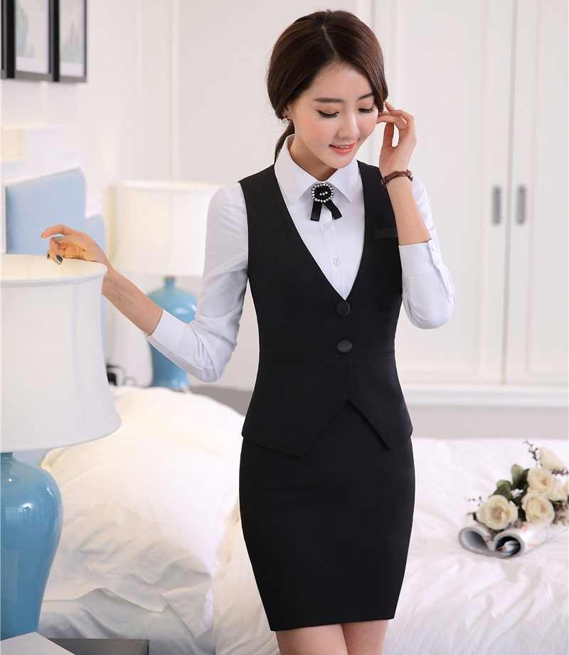 c7099a8c3ac ... Novelty Fashion Formal Uniform Styles Professional 2015 Spring Summer  Business Suits Vest + Skirt OL Blazers ...