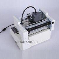 Automatyczna mała etykieta drukowanie naklejek maszyna do znakowania podajnik dokumentów pozycjonowanie etykieta segmentacja maszyna 220V w Trymery do papieru od Komputer i biuro na