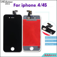 5PCS LOT All Test AAA Quality LCD Screen For IPhone 4 4s Display Assembly Touch Screen