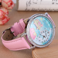Miss Keke Fashion Quartz Watches Children Diamond 3D Clay Sofa Designer Cartoon Watch Pink Leather Kids Girls Casual Watch 907