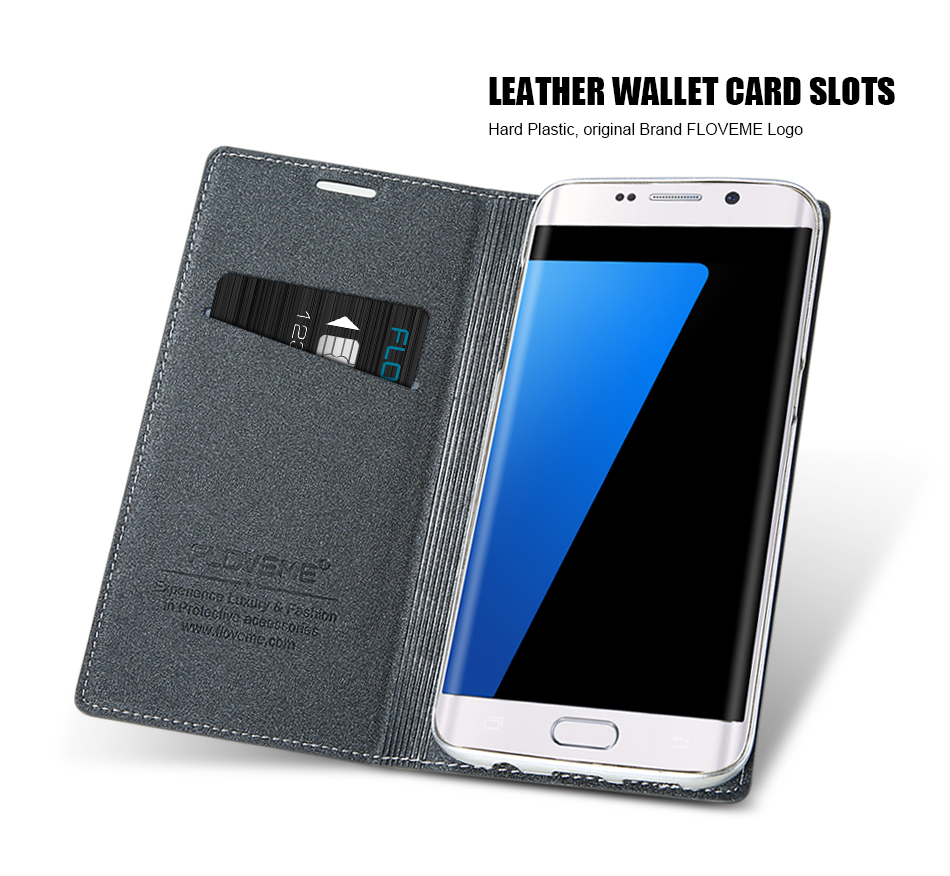 Magnetic Flip Leather Case For iPhone 5 6 7 Plus Card Slot Cover S8 BOB (8)