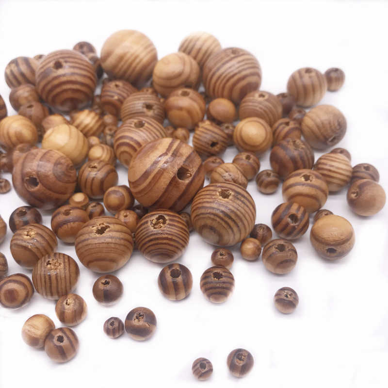 Natural Pine Bead 6~30mm Pick Size DIY Handmade Spacer Beads Simple Jewelry Accessories For Bracelet Necklace Fashion Cheap Gift
