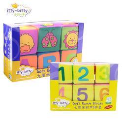6 pçs do bebê brinquedo de pelúcia bloco pano cubo blocos construção chocalhos mole bebê cedo brinquedos educativos construção antistress móvel
