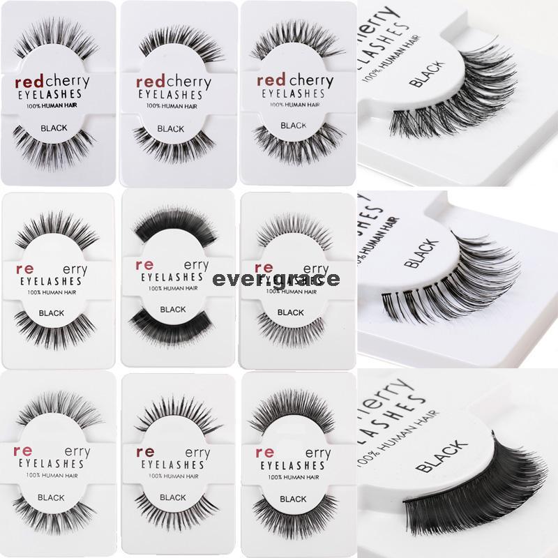 PICK ANY 5 PAIRS Makeup 100 Human Hairs False Eyelashes Eye Lashes Extension Long Natural