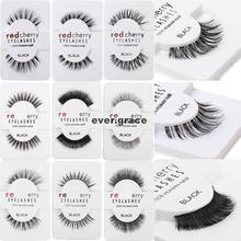 (PICK ANY 5 PAIRS)Makeup 100% Human Hairs False Eyelashes Eye Lashes Extension Long Natural