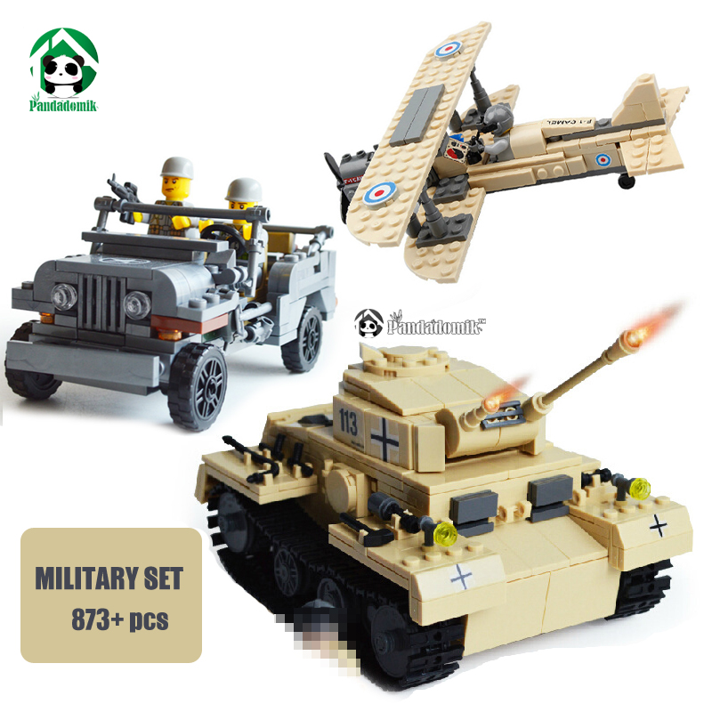 wange f 15 eagle fighter plane building blocks kit military army set models Military Set 873pcs Building Blocks Tank Panzer Army Jeep F-1 Camel Fighter Kazi Bricks are compatible with lego Bricks Parts