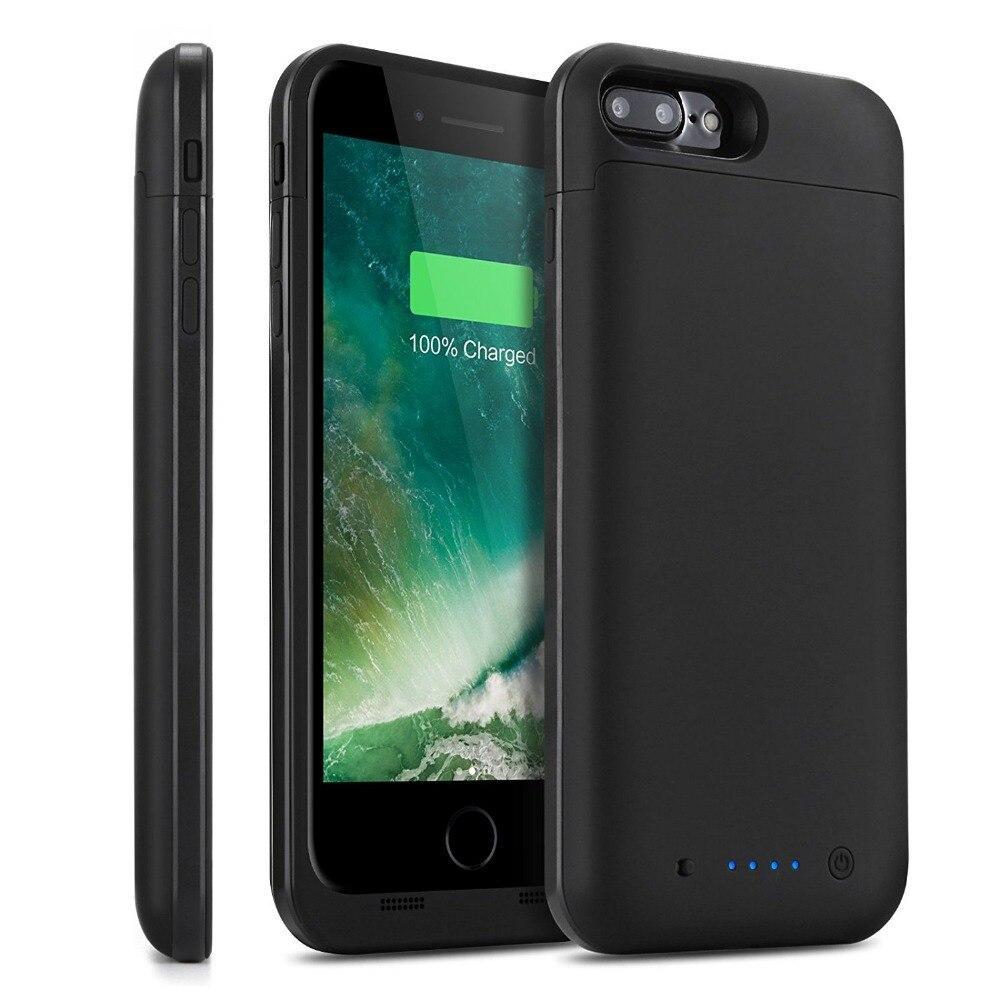 imágenes para 2017 Nuevo 7000 mAh Banco de la Energía Caja de Batería Recargable Extendido Cubierta Portátil Cargador de Batería para el iphone 7 Plus 7 5.5''