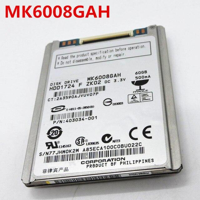 100%New 1.8inch CE 60GB HDD MK6008GAH replace mk8009gah mk1011gah mk1214gah hs122jc for U110 K12  d430 D420 NC2400