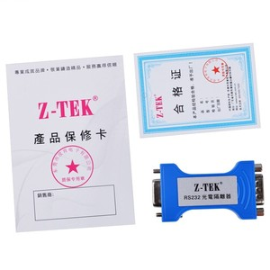 Image 4 - Z TEK RS 232 serial port optoelectronic isolator 9 pin serial RS232 lightning protection surge 3 Bits Isolated Converter