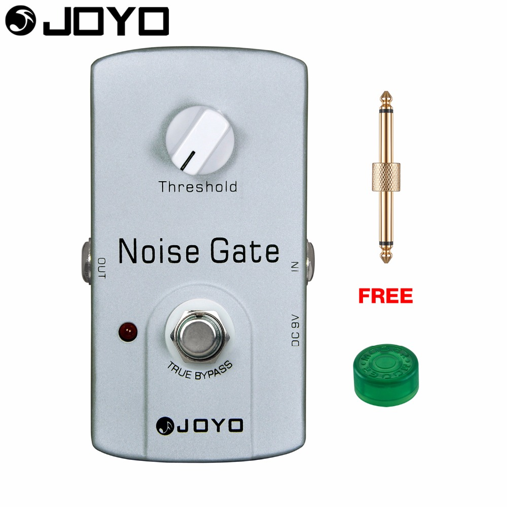 JOYO Noise Gate Electric Guitar Effect Pedal True Bypass Threshold Control JF-31 with Free Connector and Footswitch Topper joyo jf 317 space verb digital reverb mini electric guitar effect pedal with knob guard true bypass
