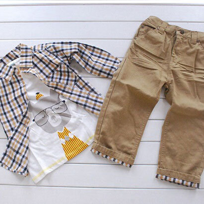 2016-New-Design-Boys-European-Style-3Pcs-Clothing-Set-Brand-Baby-Boy-Plaid-Cartoon-t-shirt-Suits-with-Loose-Soft-Jeans-C018-2