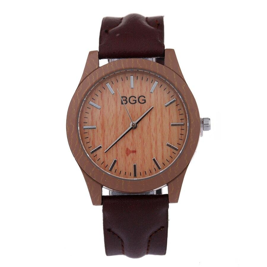 Fashion New Brand Ladies Dress Watch Luxury Imitation Wooden Women Watches Vintage Leather Quartz Retro Wristwatches