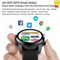4G Smart android Watch phone Android 6.0 LTE 4G Sim card GPS WIFI Heart Rate blood pressure IP68 waterproof Smartwatch Men Women