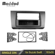 1 DIN аудио Фризовая для Suzuki Swift 2004-2009 Радио DVD стерео Панель черточки Установка aftermarker отделка комплект рамки