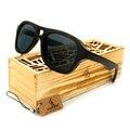BOBOBIRD G1-3 Design Criativo Óculos Handmade Quadro EbonyWooden E Bule Lente Polarizada oculos de sol feminino Com Caixa De Madeira