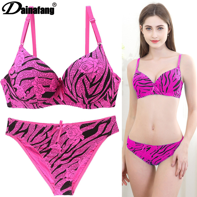 New Sexy Fashion Leopard   Bra   Cotton Embroidery Lace Push Up   Bra   B C D Cup Bow Decorative Underwear Women Soutien Gorge 1