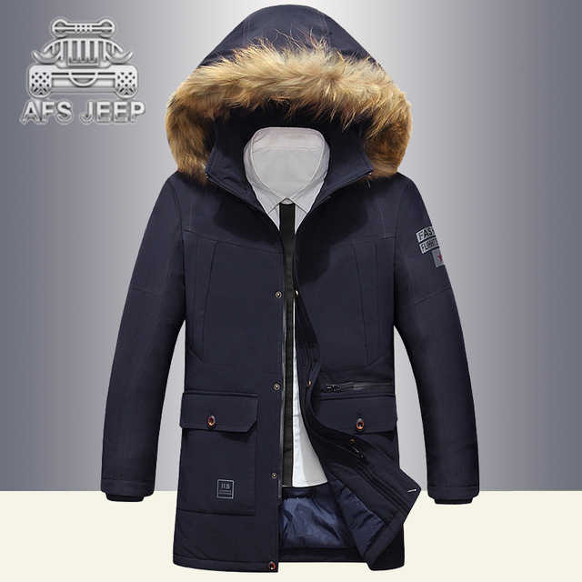 14c6e83d64 AFS JEEP 2018 Terbaru Pria Jaket Parka Mantel Musim Dingin Mantel Pria  Padat Cocok Mantel dengan