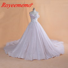 2019 New Design glitter lace Wedding Dress special top wedding gown real image factory made wholesale price bridal dress