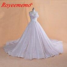 2019 Thiết Kế Mới nóng bán dài tay áo vàng vành đai Wedding Dress ren wedding gown bất hình ảnh nhà máy thực hiện bán buôn giá