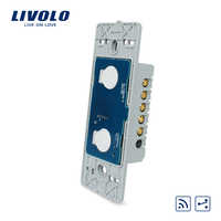 Manufacturer, Livolo AC 110~250V The Base Of Wall Light Touch Screen Switch, 2Gang 2Way Remote Function, VL-C502SR