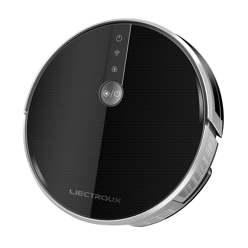 LIECTROUX C30B Robot Vacuum Cleaner Map Navigation,WiFi App,4000Pa Suction,Smart Memory,Electric WaterTank Wet Mopping Disinfect 2