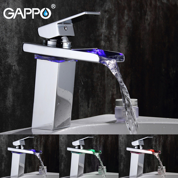 GAPPO Basin Faucet LED Sink Faucet bathroom water tap basin mixer brass Single Handle Deck Mounted faucet armatur
