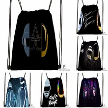 Custom Daft Punk Tron Helmets Drawstring Backpack Bag for Man Woman Cute Daypack Kids Satchel Black