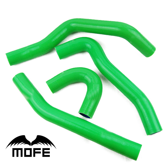 Mofe 4 pcs Green Silicone Radiator Heater Coolant Hose Kit For Mitsubishi Lancer EVO 10 silicone radiator heater hose kit fit for renault 5gt r5 15pcs 1985 1991 blue