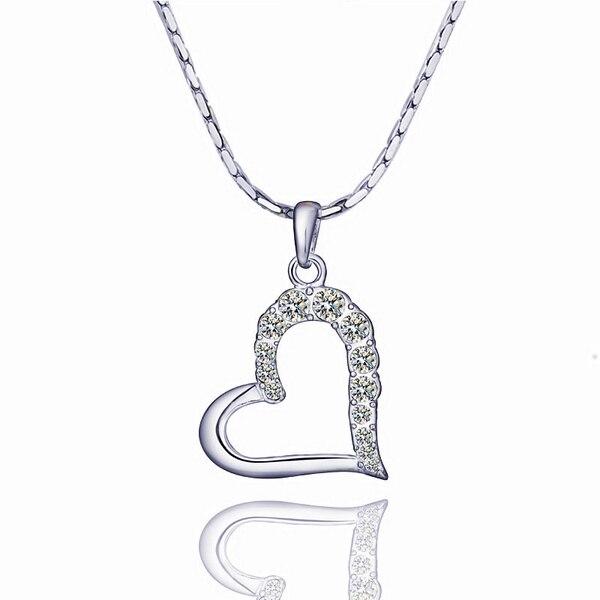 b7c8ecf2600c3 US $5.2 |New Heart Pendant Zirconia Jewelry Love Pendants Gold Color  Pendulum Bijouterie Pingente Indian Costume Necklace Women N486-in Pendant  ...