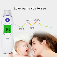 Ear Thermometer Digital IR Infrared Bady Fever Thermometer Adult Children Forehead Non-contact Body Temperature Meter(China)