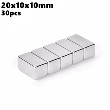 Powerful Magnetic Permanent Magnet 20x10x10mm N35 Rare Earth NdFeB 30pcs 20x10x10 Strong Block Neodymium Magnets