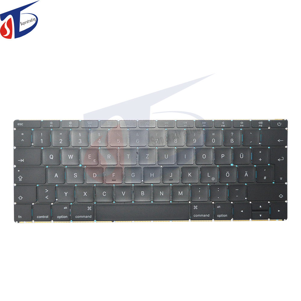 Early 2015year For MacBook 12 Retina A1534 Keyboard DE German Layout without Backlit Backlight MF855 MF865 EMC 2746 early 2015year for macbook 12 retina a1534 keyboard de german layout without backlit backlight mf855 mf865 emc 2746