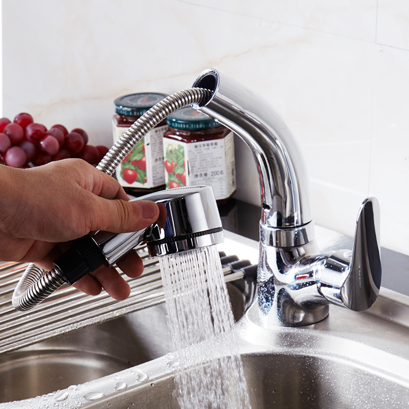 FLG Flexible Pull Out Basin Faucet Special Designed For Washing ...