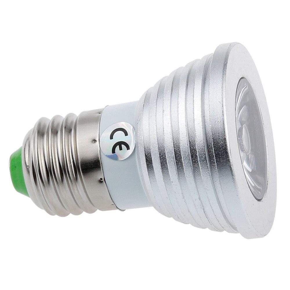 Lemonbest 4W E27 RGB LED Bulb 16 Color Change Lamp spotlight 110-245v 110V 220V for Home Party decoration with IR Remote