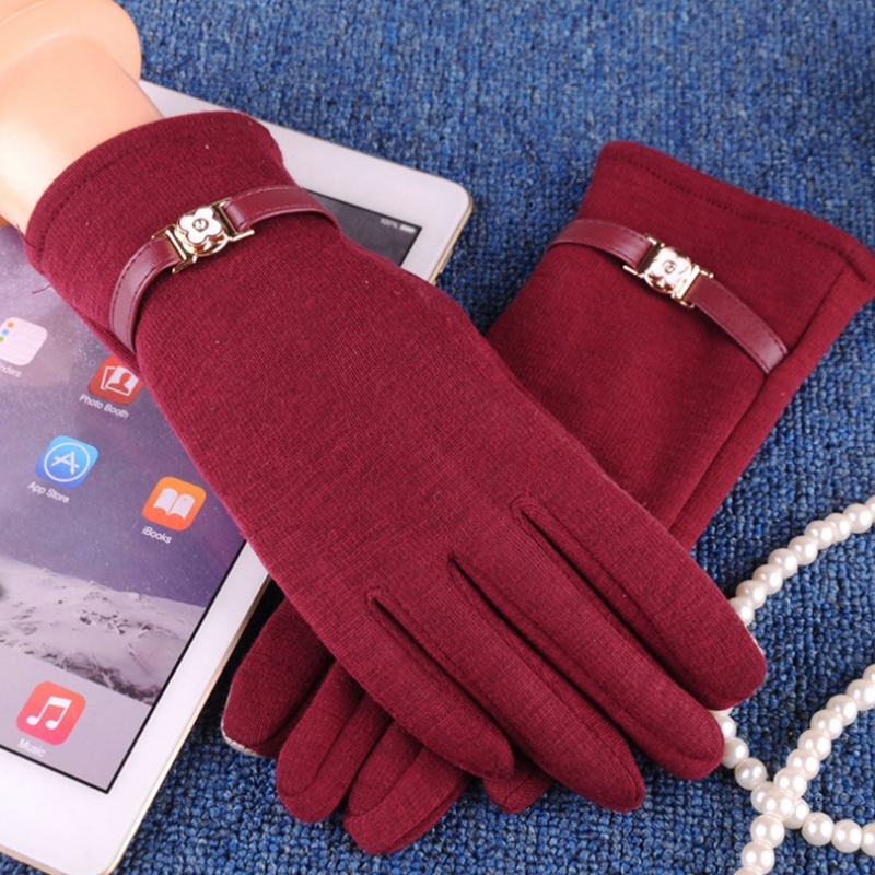 NAIVEROO Waterproof and Warm Touch Screen Gloves made of PU Leather and Conductive Fibers for Women Suitable for Spring and Winter 48