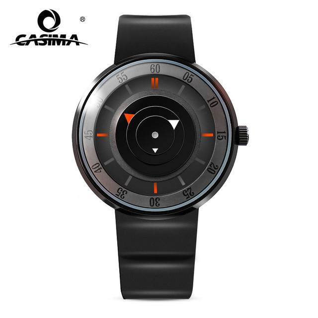 New Luxury Brand Fashion Personality Quartz Waterproof Silicone Band for Men and