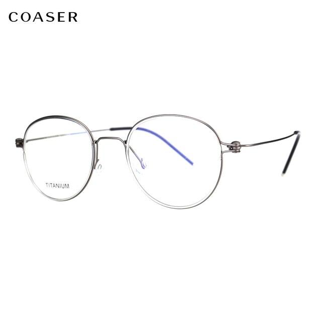 733f0d5c3d3 Titanium Alloy Optical Glasses Frame Men Prescription Eyeglasses Korean  Denmark Women Brand Designer Myopia Screwless Eyewear