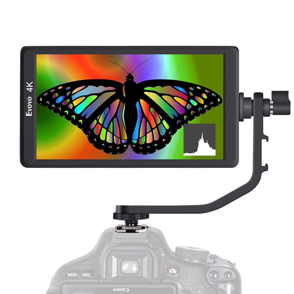 Eyoyo E6 5.7 1920x1080 DSLR On-Camera Monitor Support 4K HDMl Input/Output IPS Video Monitor for Sony A6/A7/GH4/GH5/Canon 5D