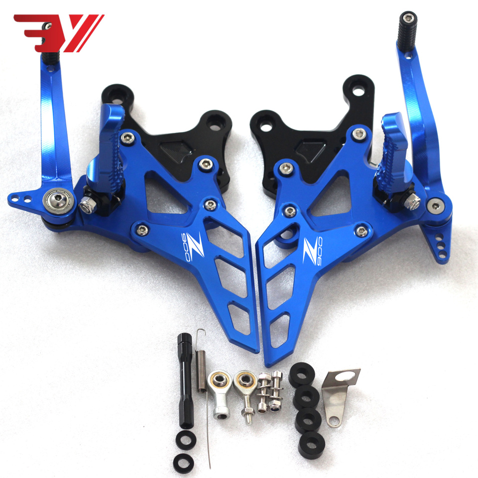 Motorcycle For Kawasaki Z900 2017 2018 CNC Aluminum Accessories Footrest Rear Sets Adjustable Rearset Foot Pegs