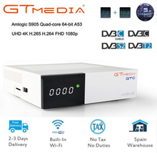 GTC 4K Digital Satellite receiver Combo Support DVB-T2/DVB-S2/DVB C/isdb-t dvb t2 Tuner android 6.0 set top box m3u iptv tv
