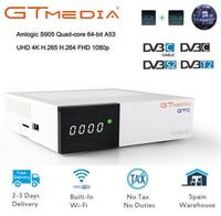 GTC 4K Digital Satellite receiver Combo Support DVB T2/DVB S2/DVB C/isdb t dvb t2 Tuner android 6.0 set top box m3u iptv tv box
