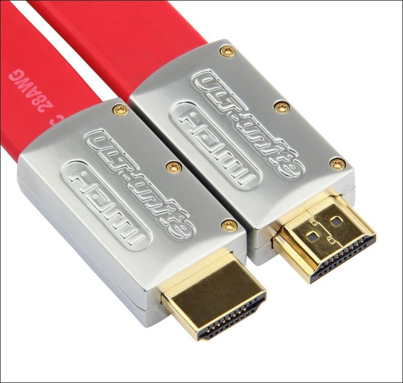 4K HDMI 2.0 Platte kabel Draad Mannelijk naar metalen kop 1m 1.5m 2m - Computer kabels en connectoren - Foto 5