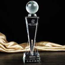 29cm High-grade crystal cup trophy football basketball earth golf tournament trophies