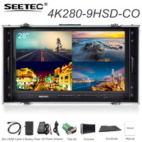 SEETEC 4K280 9HSD CO 28 4K Carry on Broadcast Monitor 3840x2160 Ultra HD Director Monitor with Suitcase for Making Video Movies