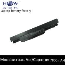 цена на 7800MAH laptop battery A32-K53 for Asus A43E A53S K43E K43U K43S X54 X54H K43SJ X54C X84 K53S K53 K53SV K53T K53E K53SD X44H