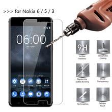 3381c04dc334 Закаленное Стекло для Nokia 6 5 3 телефон Экран протектор 9 H 2.5D Защитная  пленка