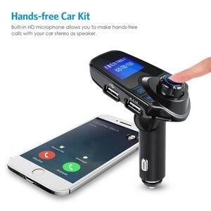 Image 2 - Автомобильный Bluetooth беспроводной Mp3 плеер Handsfree автомобильный комплект fm передатчик 5V 2.1A USB зарядное устройство ЖК дисплей Автомобильный FM модулятор