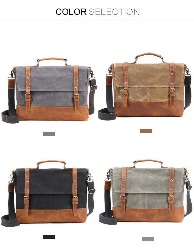 mens leather dispatch bag